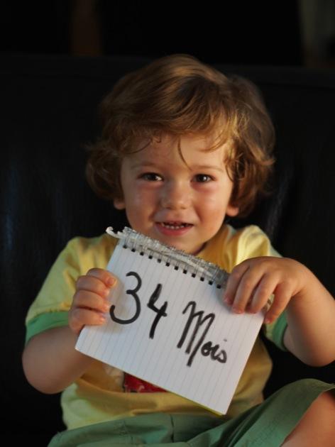 34 mois pour mon Ticoeur