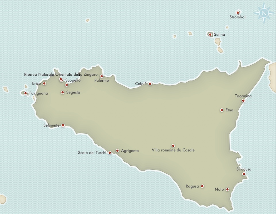 itineraire Sicile