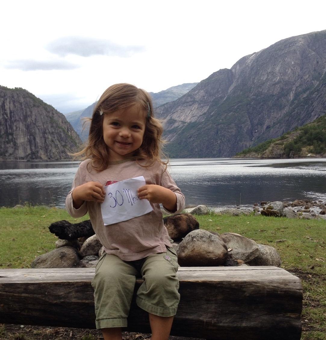 En Norvège pour tes 2 ans et demi !