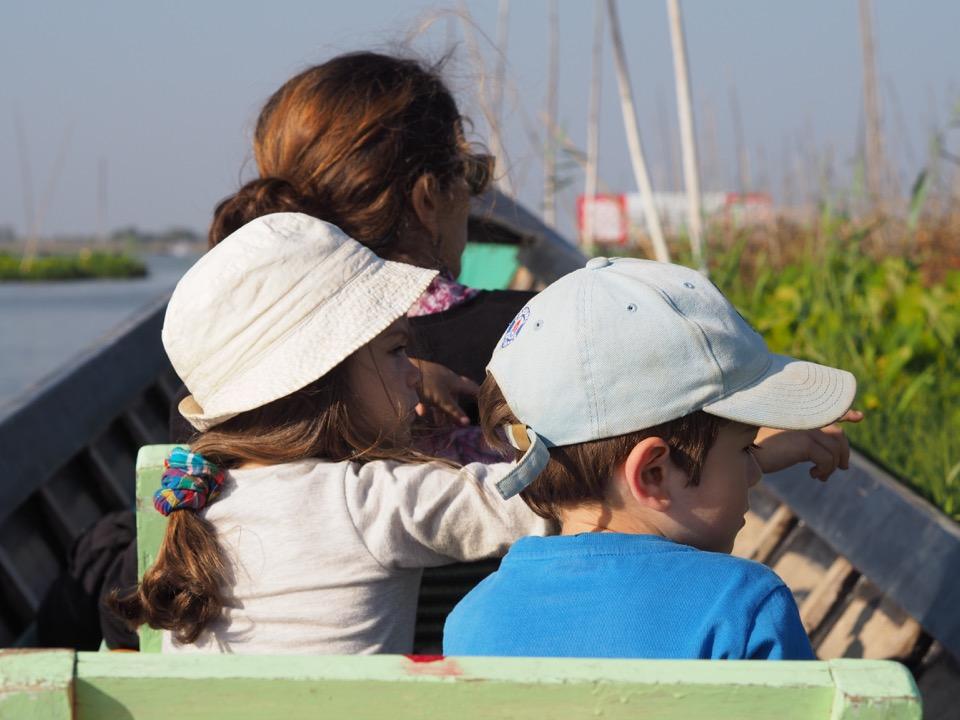 Lac Inle en famille