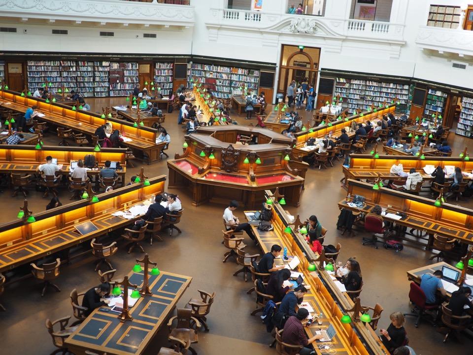 bibliothèque de Melbourne