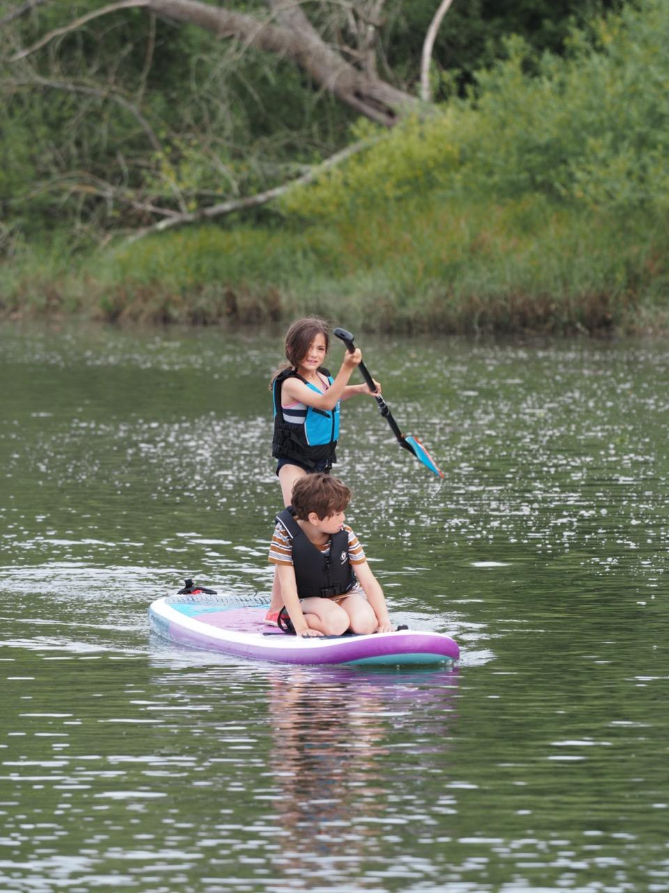 paddle board en famille
